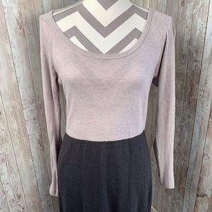James Perse 4 angora blend colorblock sweaterdress